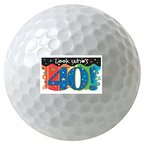 Look Who 's 40カラフルな誕生日3*- Pack Printedゴルフボール