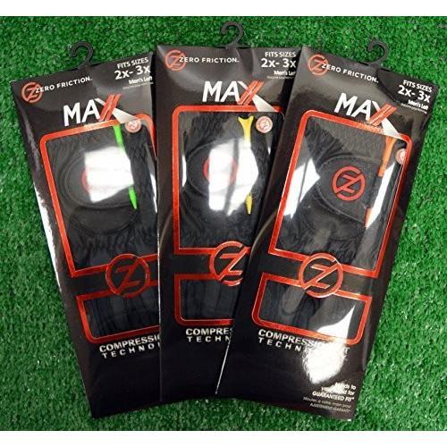 新発売 3ゼロ摩擦Maxxメンズゴルフグローブ2*x - - 3*X、左、手、ブラック, シベトロムラ:6d8fc8d6 --- airmodconsu.dominiotemporario.com