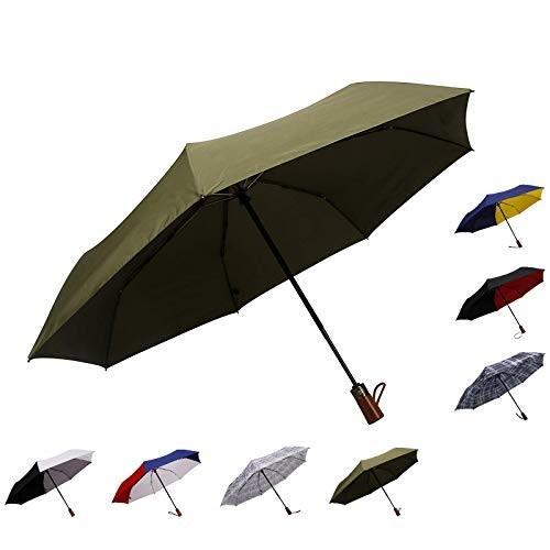 ライラックAuto Open & Closeコンパクト旅行7リブ高防水upf50*+折りたたみポータブル傘for durablility
