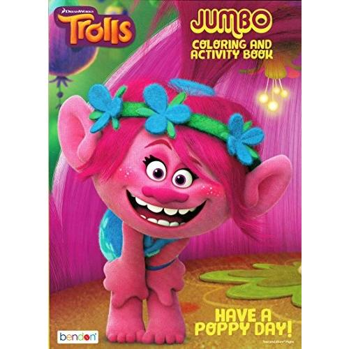 DreamWorks Trolls Rock N Troll Jumbo Coloring /& Activity Book Bendon