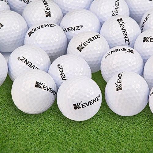 12パックKevenz 2017アウトドアスポーツSupersoftゴルフボール(ホワイト,イエロー)
