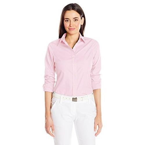 (XX-Large, Mid ピンク) - Antigua Women's Dynasty Shirt