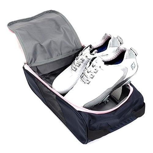 Genuine FOOTJOY Golf Shoes Bag Zipped Sports Bag Shoe Case - ピンク Colour