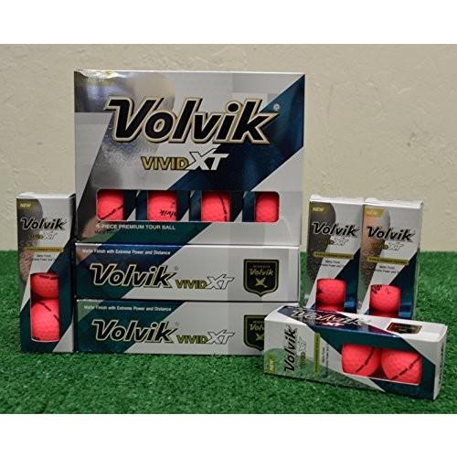 4ダースVolvik Vivid XTマットピンクゴルフボール***新しいinボックス