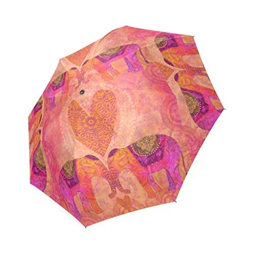 artsbabaピンク象傘雨折りたたみ式傘Sun UV保護コンパクトトラベル傘軽量