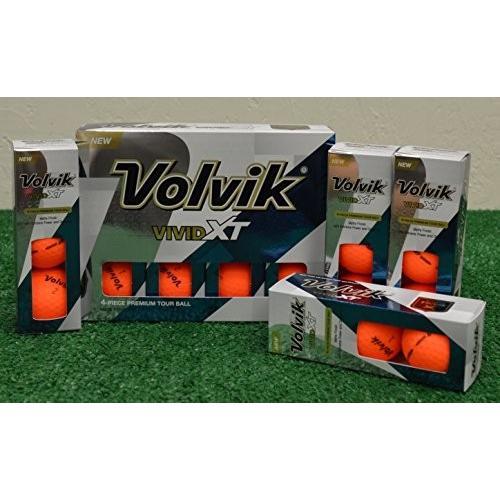 2*Dozen Volvik Vivid XTマットオレンジゴルフボール***新しいinボックス