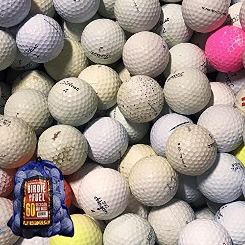 60*hit-a-wayゴルフボールメッシュバッグ付き