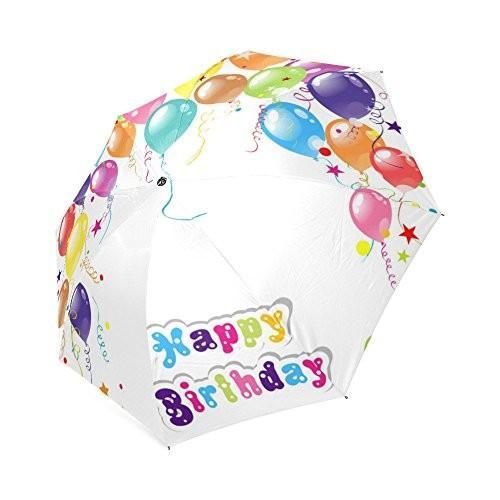 Happy誕生日ギフトバルーンアンチ雨防風旅行ゴルフスポーツ折りたたみ式傘