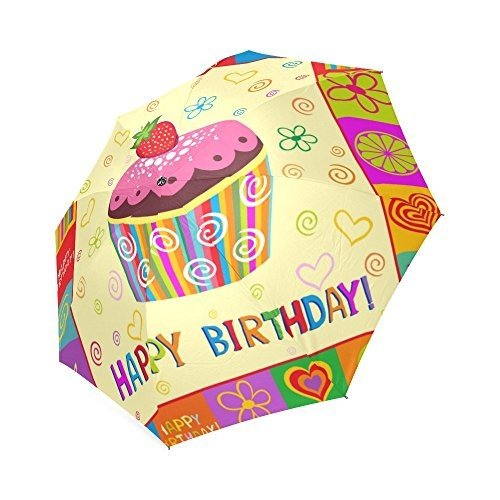 Happy誕生日ギフトアンチ雨防風旅行ゴルフスポーツ折りたたみ式傘