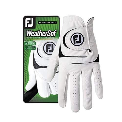 Footjoy WeatherSof メンズゴルフグローブ - 右手/左手&サイズ選択可世界No.1ゴルフグローブ。 ホワイト