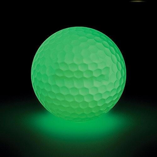グローゴルフボール***光夜ゴルフボール充電式by太陽光と懐中電灯、再利用可能な、グローin theダーク グリーン