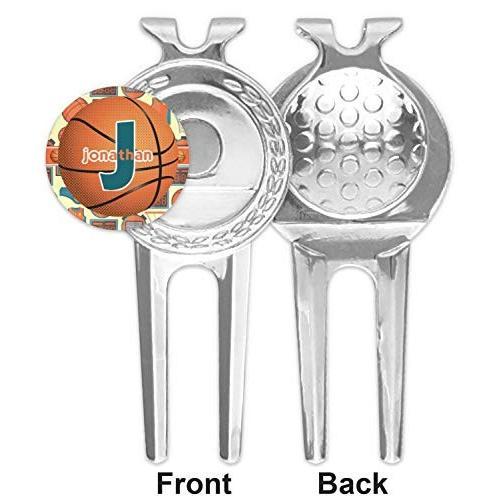 バスケットボールゴルフDivot Tool &ボールマーカー( Personalized )