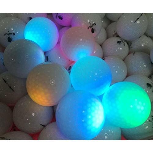4個LEDライトUpゴルフボール***Ultra Bright Glow in the Dark Nightゴルフボールマルチカラーfor