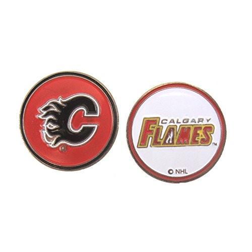 Calgary Flames帽子クリップ&両面ゴルフボールマーカー