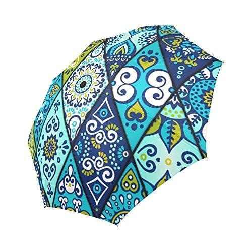 超爆安  Ottomanボヘミアスタイルモチーフアウトドア旅行自動折りたたみ式傘, 掛け軸の【ほなこて】 ad43108f