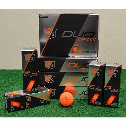 5ダースウィルソンスタッフDuo Optix***マットオレンジゴルフボール