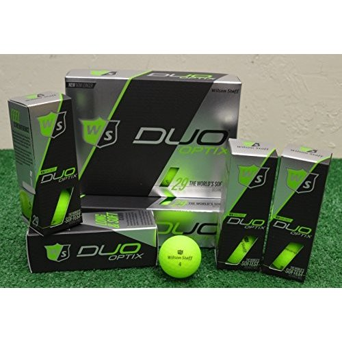3ダースウィルソンスタッフDuo Optix***マットグリーンゴルフボール