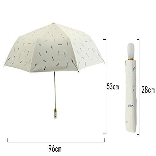 YONGLIANG 家庭用品自動折りたたみ傘プラスチックサンスクリーン日焼け止め太陽と雨デュアル傘