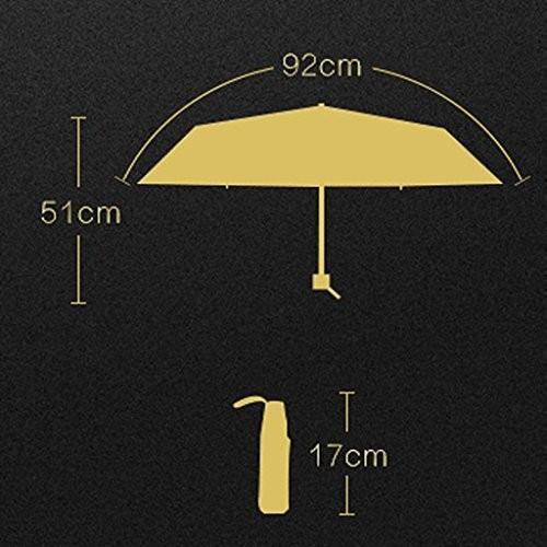 YONGLIANG 家庭用品超軽量小型折り畳み傘ミニブラックパラソル女性太陽UV保護傘折りたたみサニーアンブレラ ( 色 : ピンク ぴんく )