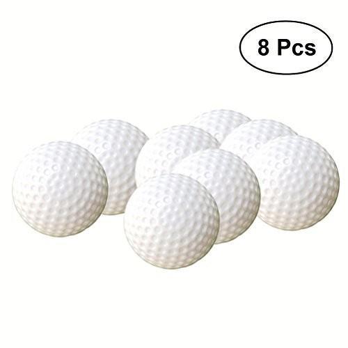 TOYMYTOY 24pcs Plastic Golf Balls Game Toy Balls Indoor Outdoor Practise