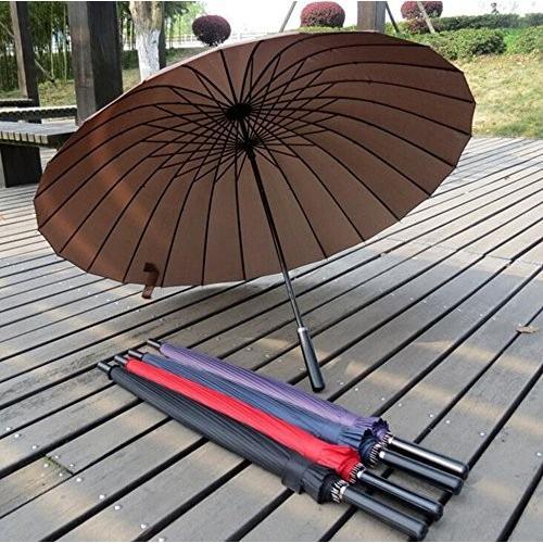 biutefang傘大きい傘ロングハンドルストレートロッドゴルフ傘手動Open防風25インチ パープル 6933322202026