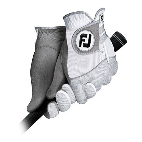 愛用 新しいImproved White/Gray Footjoy RainGrip手袋( RainGrip手袋( 1ペア)雨グリップ Color Men's Small - White/Gray Color, グラファス:99d5b359 --- airmodconsu.dominiotemporario.com