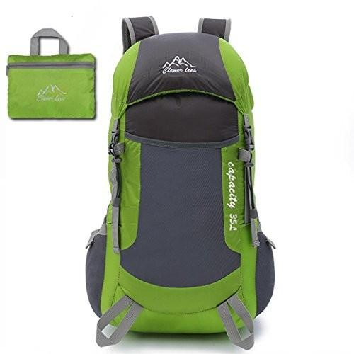 Tiean旅行バックパック、モーションバックパック男の子女の子メンズナイロンClimbバッグショルダーバッグ グリーン