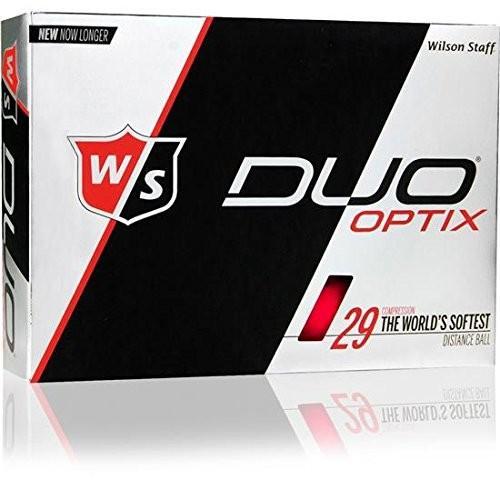ウィルソンスタッフDuo Optixマットレッドalignxl Personalizedゴルフボール