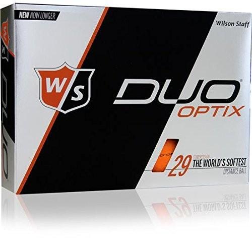 ウィルソンスタッフDuoソフトOptixマットオレンジalignxl Personalizedゴルフボール