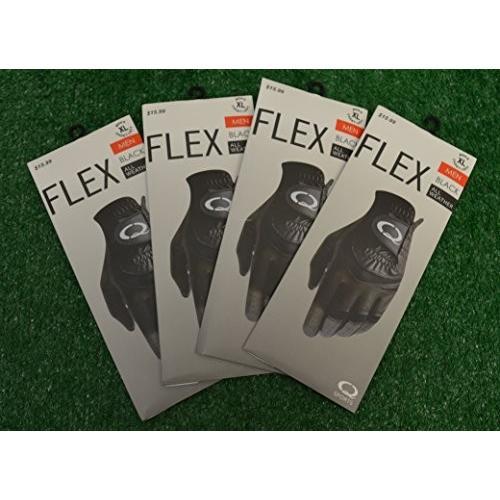 qスポーツ4*Flex All Weatherブラックゴルフグローブ***Men 's Left Hand Cadet Extra Large