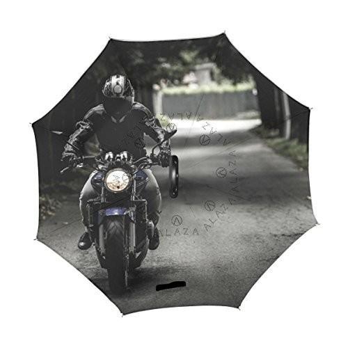 xianghefu Double Layer Inverted Reverse Umbrellas Biker Motorcycle Ride