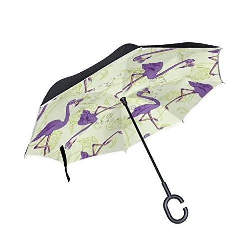 すべての同意カラフルワールドマップInverted傘二層防風UV保護コンパクト車逆傘 One Size