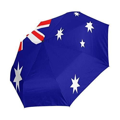 Chinein 旅行用傘 自動開き コンパクト 折りたたみ式 日差しと雨から保護 オーストラリア国旗