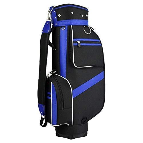 正規品! ゴルフクラブバッグ ナイロンゴルフバッグスタンダードバッグゴルフスタンドバッグ防水ゴルフキャリーバッグ黒と青のボールバッグ付き5プランジャ穴 大容量, オウミマチ 0627d2fe