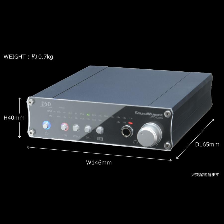 SWD-DA15 高機能USB D/Aコンバーター[SW Desktop-Audioシリーズ] サウンドウォーリアーSOUND WARRIOR(さうんどうぉーりあ) shiroshita 04