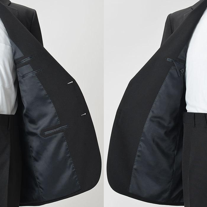 礼服 メンズ 大きいサイズ フォーマルスーツ ブラックスーツ ビッグサイズ アジャスター付 黒 喪服  冠婚葬祭 スーツハンガー付属【あすつく】|shirt-style|13