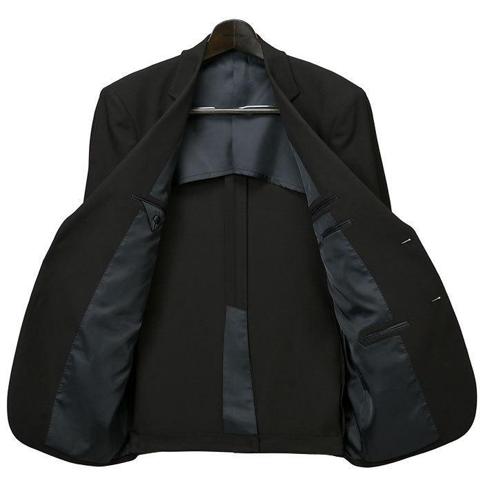 礼服 メンズ 大きいサイズ フォーマルスーツ ブラックスーツ ビッグサイズ アジャスター付 黒 喪服  冠婚葬祭 スーツハンガー付属【あすつく】|shirt-style|14
