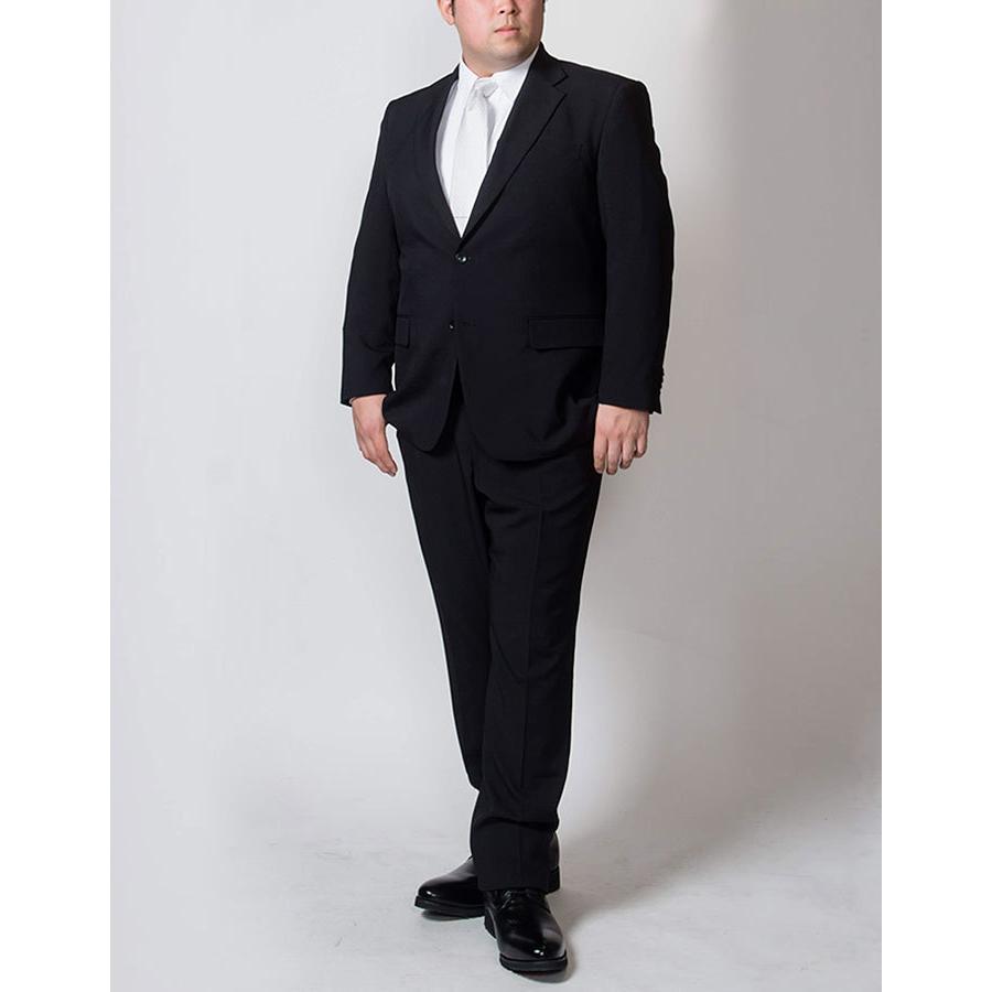 礼服 メンズ 大きいサイズ フォーマルスーツ ブラックスーツ ビッグサイズ アジャスター付 黒 喪服  冠婚葬祭 スーツハンガー付属【あすつく】|shirt-style|17