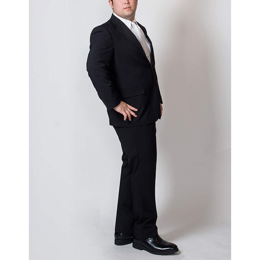 礼服 メンズ 大きいサイズ フォーマルスーツ ブラックスーツ ビッグサイズ アジャスター付 黒 喪服  冠婚葬祭 スーツハンガー付属【あすつく】|shirt-style|18