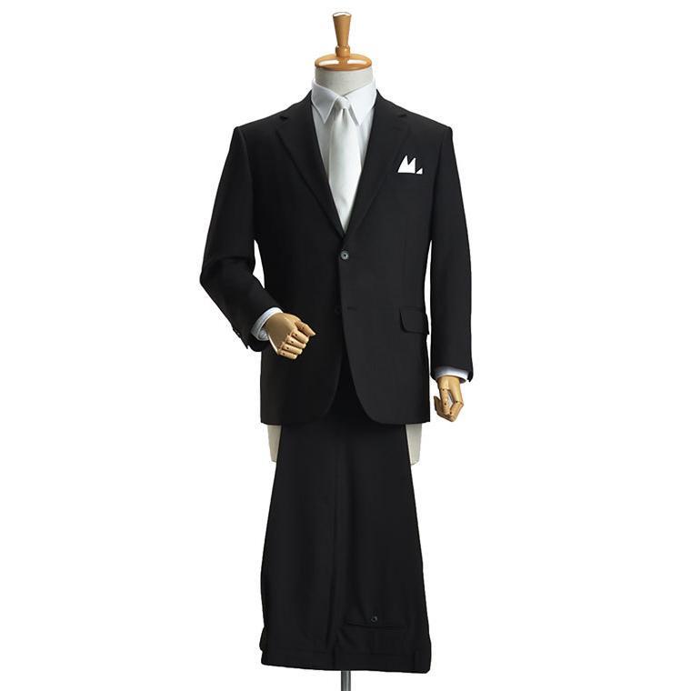礼服 メンズ 大きいサイズ フォーマルスーツ ブラックスーツ ビッグサイズ アジャスター付 黒 喪服  冠婚葬祭 スーツハンガー付属【あすつく】|shirt-style|05