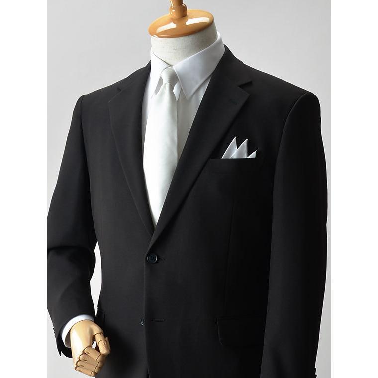 礼服 メンズ 大きいサイズ フォーマルスーツ ブラックスーツ ビッグサイズ アジャスター付 黒 喪服  冠婚葬祭 スーツハンガー付属【あすつく】|shirt-style|06