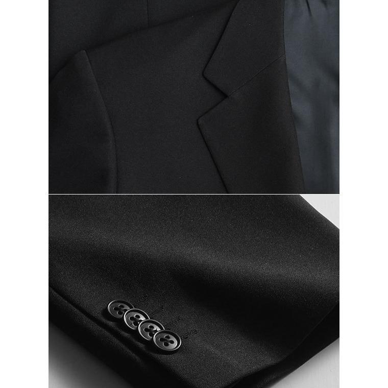 礼服 メンズ 大きいサイズ フォーマルスーツ ブラックスーツ ビッグサイズ アジャスター付 黒 喪服  冠婚葬祭 スーツハンガー付属【あすつく】|shirt-style|07