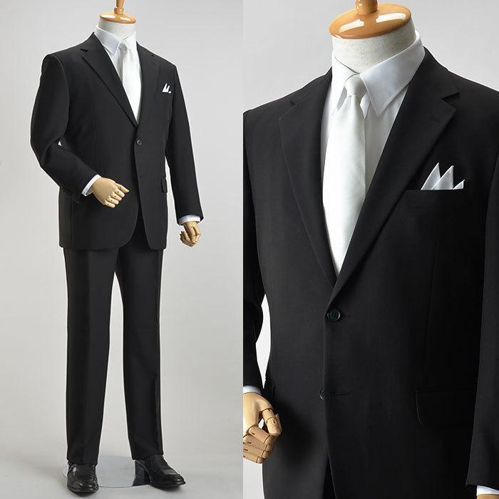 礼服 メンズ 大きいサイズ フォーマルスーツ ブラックスーツ ビッグサイズ アジャスター付 黒 喪服  冠婚葬祭 スーツハンガー付属【あすつく】|shirt-style|10