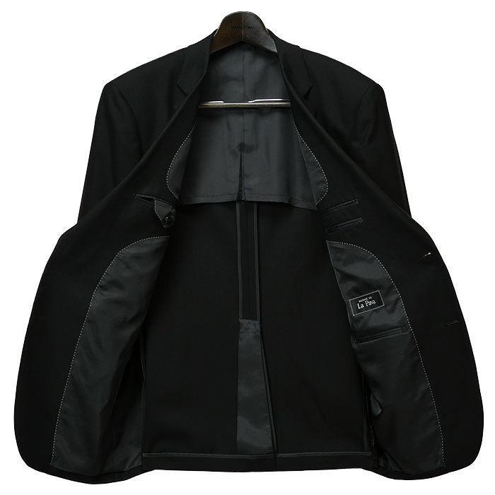 大きいサイズ 礼服 メンズ フォーマルスーツ ビッグ おおきい ゆったり 濃染加工 2つボタン シングル 深みブラックスーツ アジャスター付 黒 喪服  冠婚葬祭|shirt-style|14