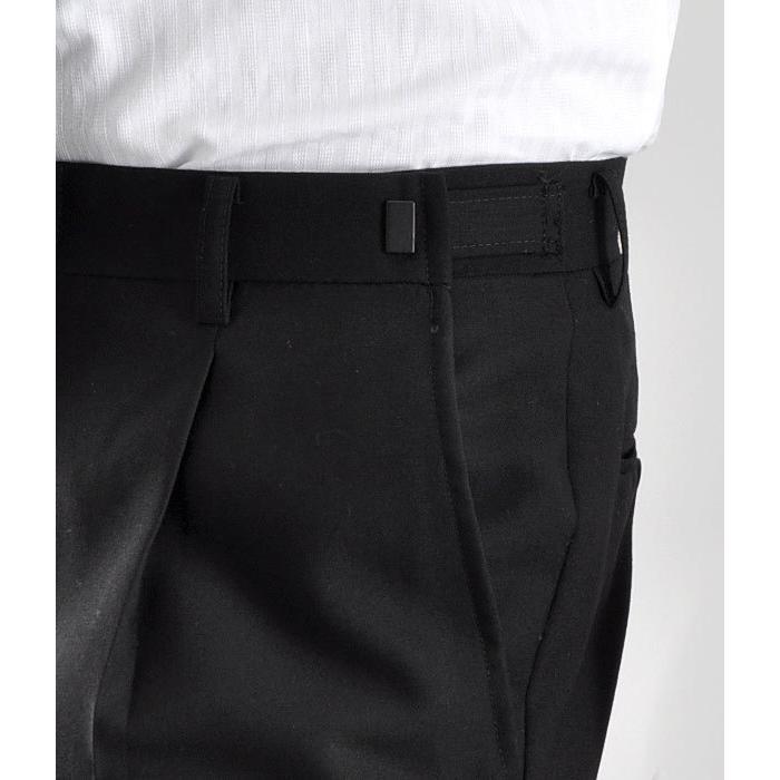 大きいサイズ 礼服 メンズ フォーマルスーツ ビッグ おおきい ゆったり 濃染加工 2つボタン シングル 深みブラックスーツ アジャスター付 黒 喪服  冠婚葬祭|shirt-style|16