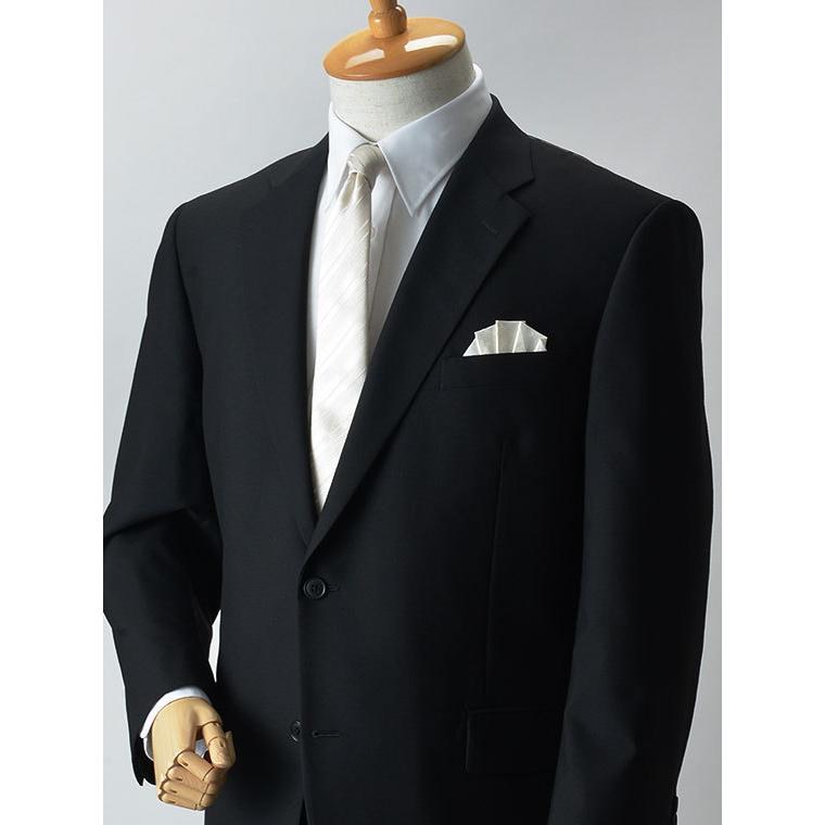 大きいサイズ 礼服 メンズ フォーマルスーツ ビッグ おおきい ゆったり 濃染加工 2つボタン シングル 深みブラックスーツ アジャスター付 黒 喪服  冠婚葬祭|shirt-style|06