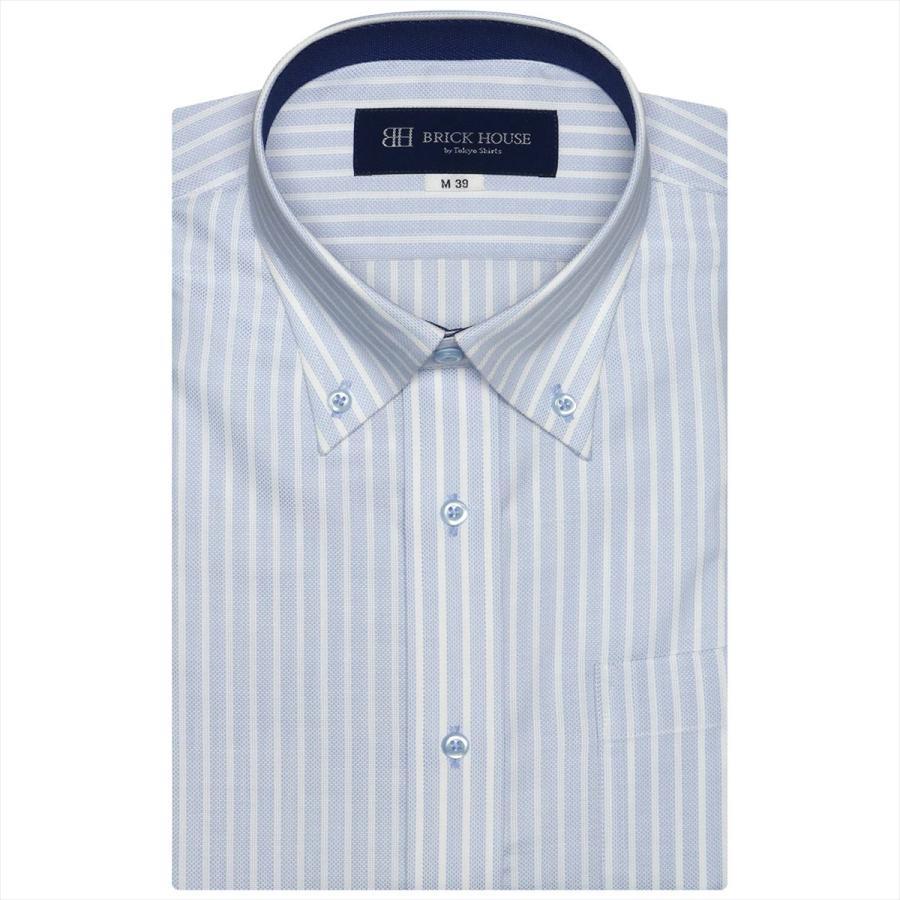 ボタンダウン 半袖 形態安定 ワイシャツ