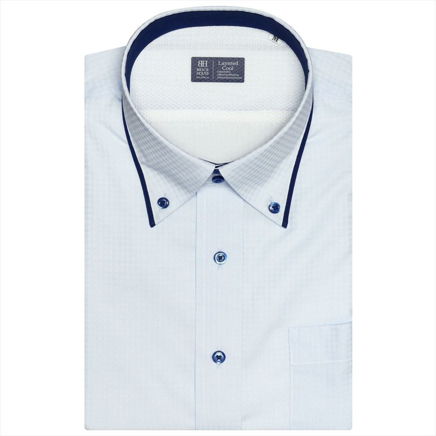 【Layered Cool】 ボットーニ 半袖 形態安定 ワイシャツ