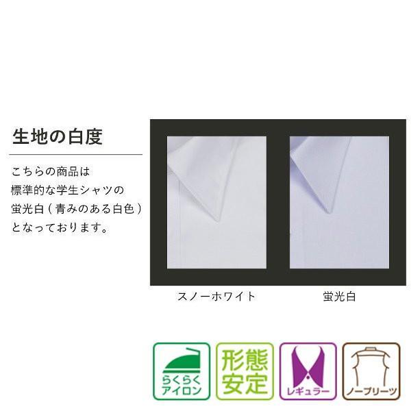 スクールシャツ 半袖 男子 学生服 1000円クーポン対象 蛍光白 防汚加工 形態安定|shirts-mart|02