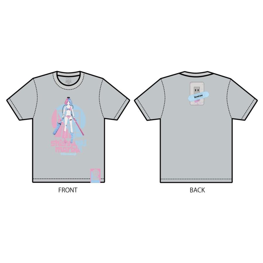 でばうさぎ ERECTRIC GIRL 思春期マーブルTシャツ|shisyunki|03